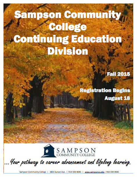 Sampson Community College Fall 2015