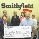 Smithfield gives to United Way