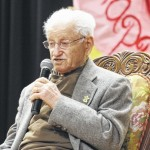 Abe Piasek, Holocaust survivor visits Harrells Christian Academy