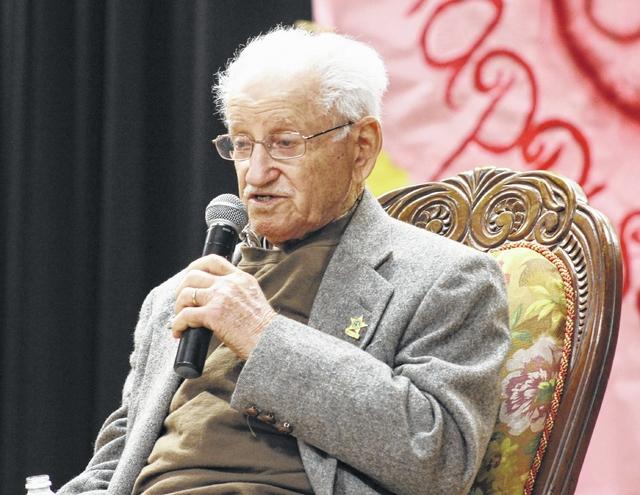 Abe Piasek, Holocaust survivor visits Harrells Christian Academy