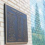 Garland plaque honors mural sponsors
