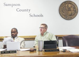 Sampson BOE education reviews emergency center plans