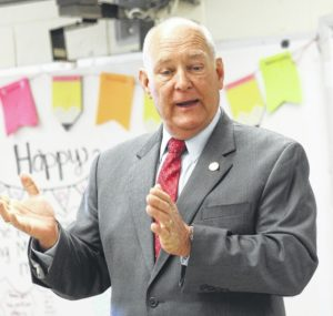 Sen. Brent Jackson visits Union Intermediate School