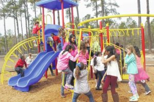 Midway ES installs new recess equipment, plans for outside classroom