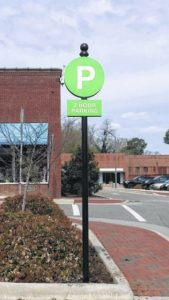 Parking signs, paid for by grant, latest in city's wayfinding